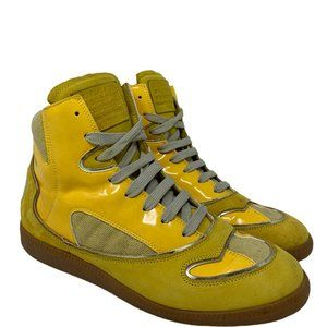 Maison Martin Margiela High Top Yellow Multi-Color Sneakers Size 38 US 7